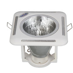"4"" Square Downlight with glass 1 *15/18w CFL (3)"